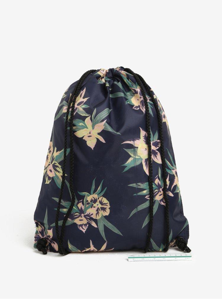 Tmavě modrý dámský květovaný vak VANS Benched