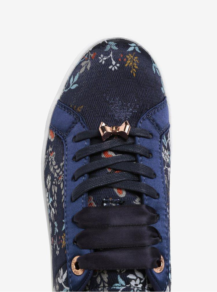 Tmavě modré květované tenisky s detaily Ted Baker Sorcey