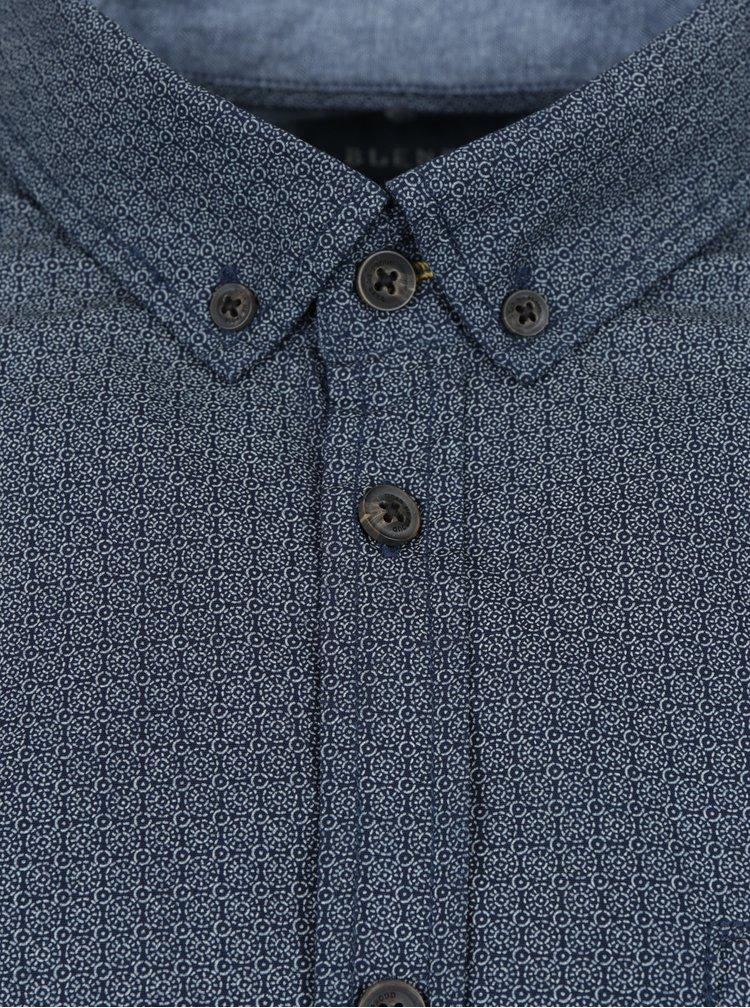 Camasa albastra cu model geometric - Blend