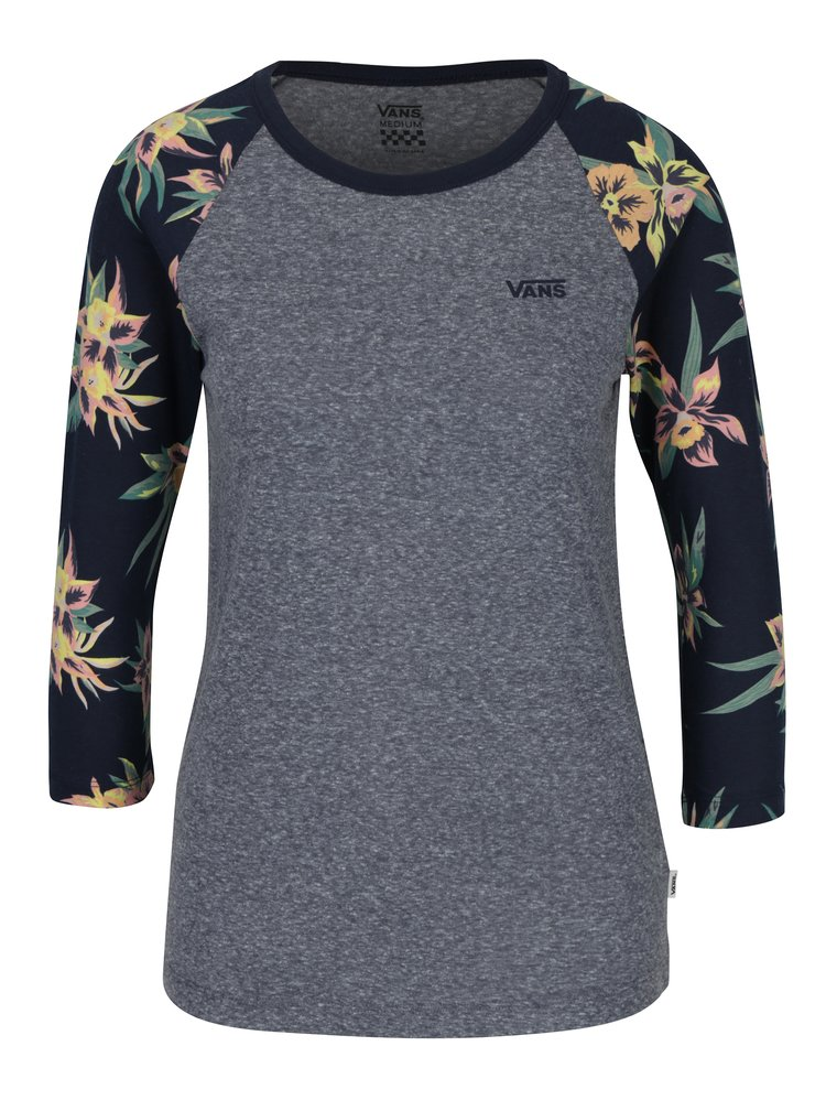 Bluza gri cu maneci 3/4 raglan pentru femei  -  VANS Fall Tropics