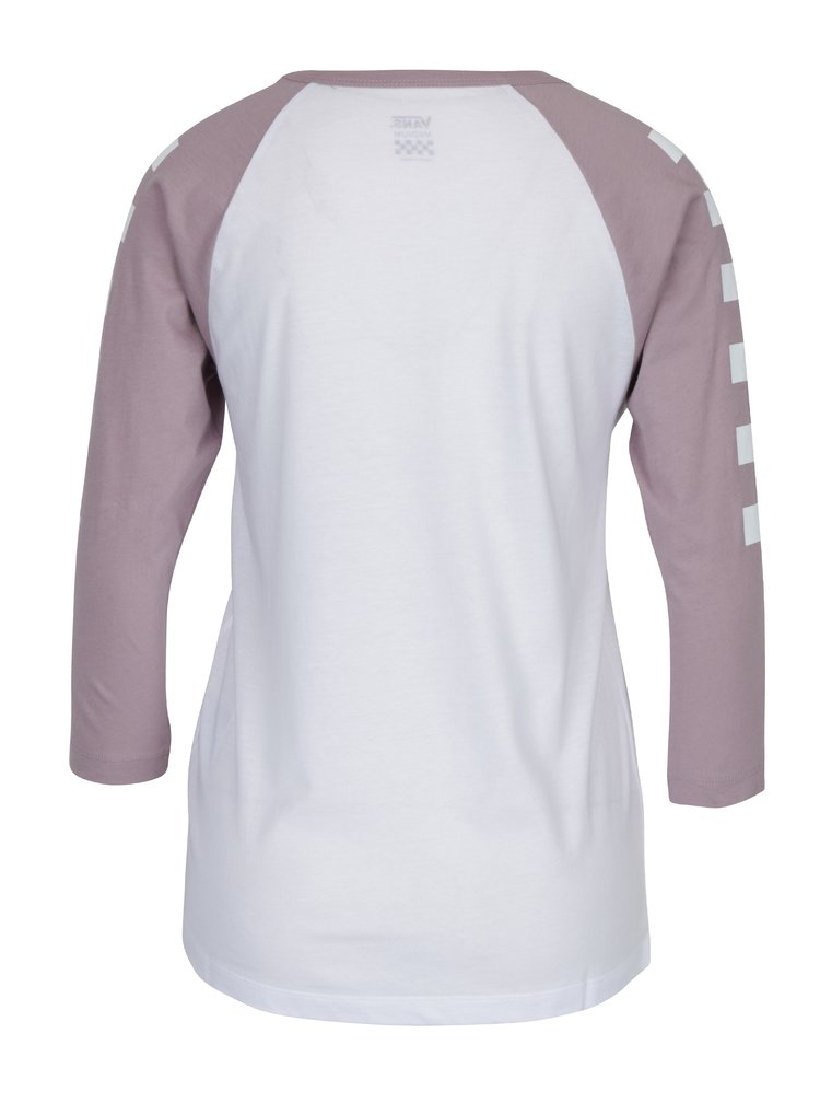 Fialovo-bílé dámské tričko s potiskem VANS Big Fun