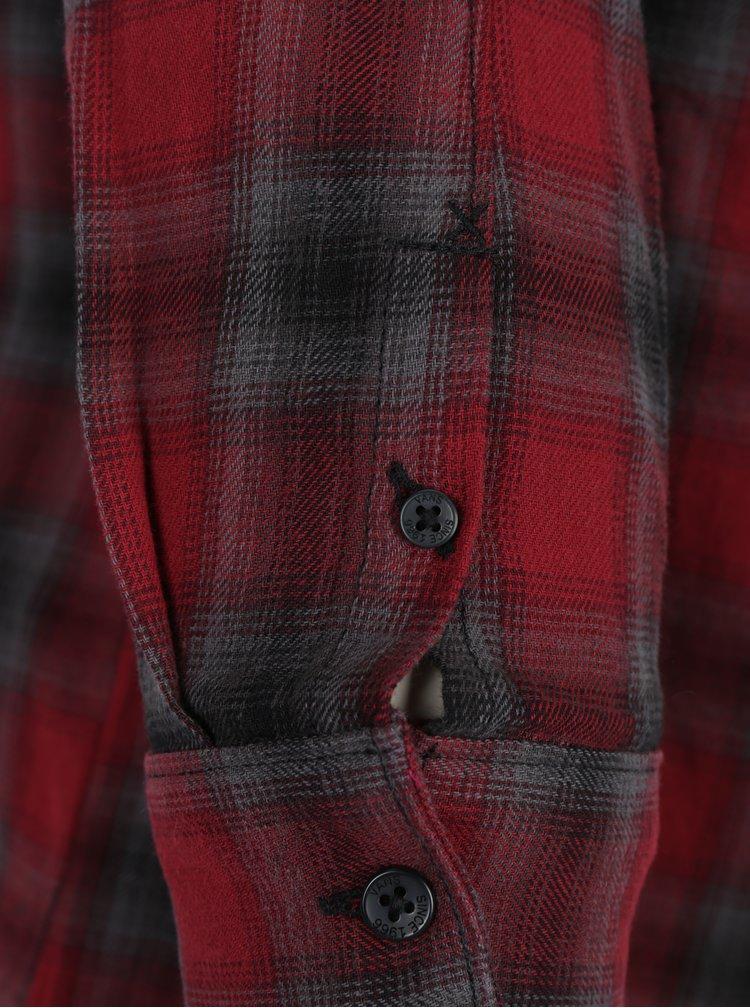 Camasa din flanel in carouri rosu & gri pentru femei - VANS Meridian