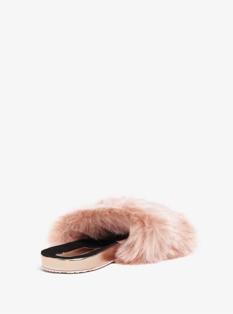 Růžové pantofle s vysokým vlasem Ted Baker Pancey