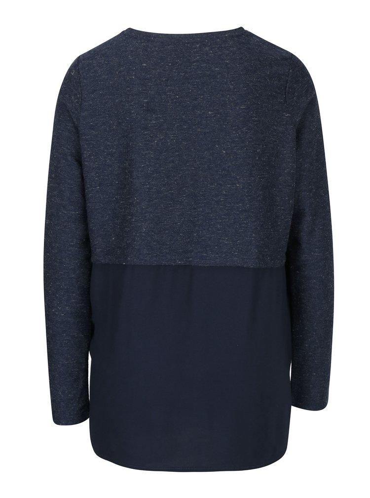 Bluza bleumarin cu print VERO MODA Sasha
