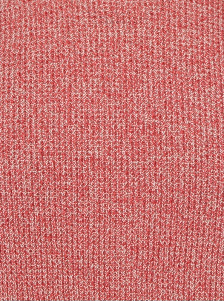 Červený žíhaný slim fit svetr Blend