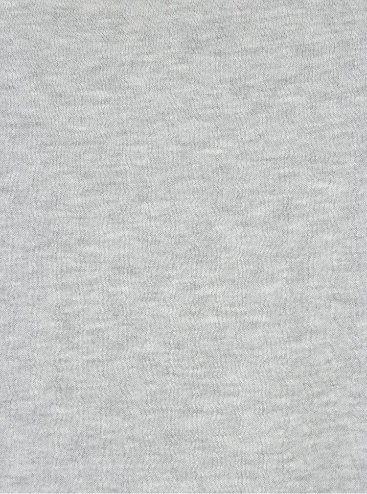 Svetlosivá mikina s nariasenými rukávmi ONLY June