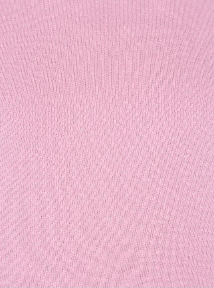 Růžová mikina s nařasenými rukávy ONLY June