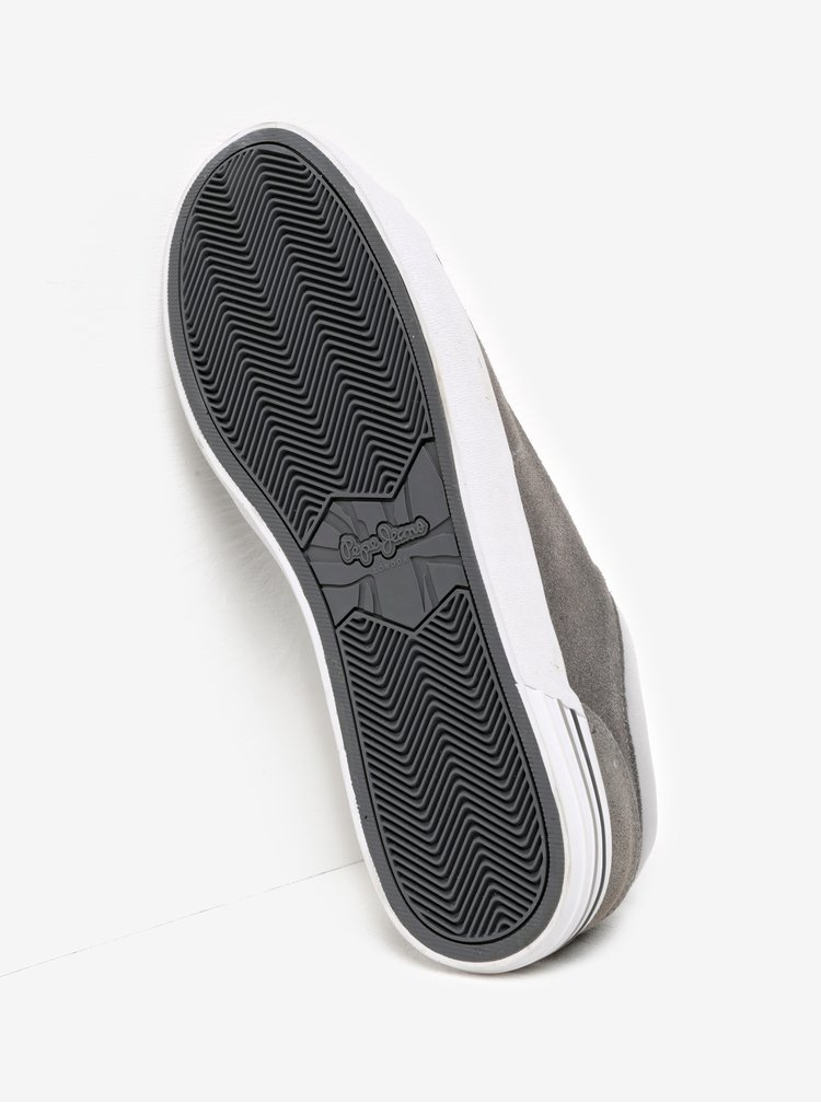 Pantofi sport gri din piele Pepe Jeans North Mix