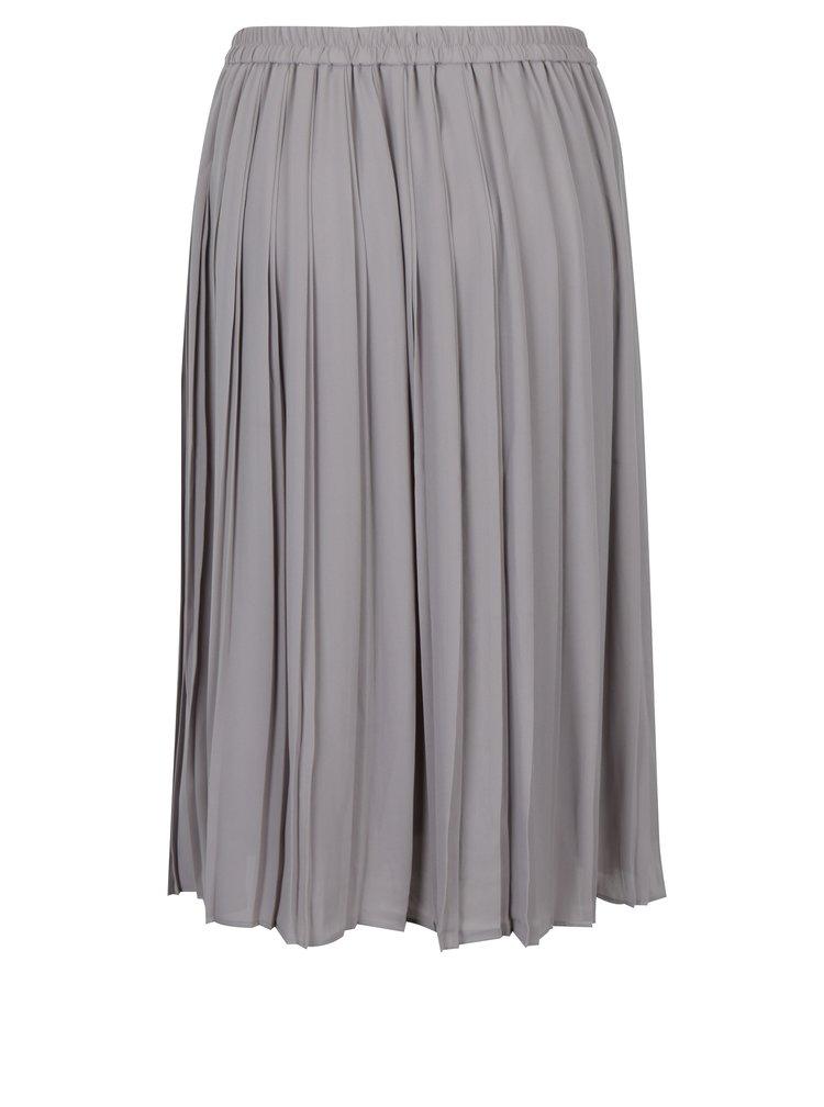 Světle šedá plisovaná sukně VERO MODA Swing
