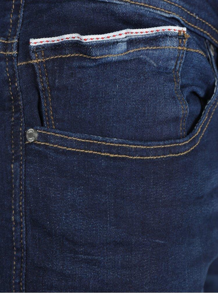 Tmavě modré skinny džíny s vyšisovaným efektem Blend
