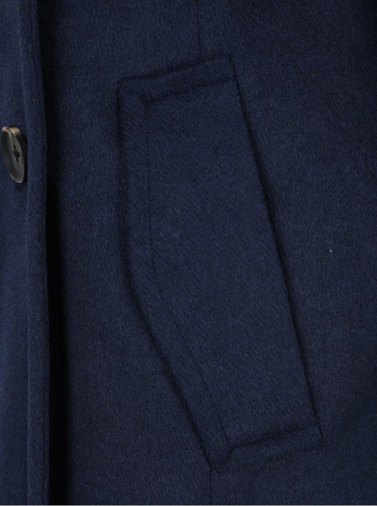 Tmavě modrý kabát s příměsí vlny VERO MODA Pisa