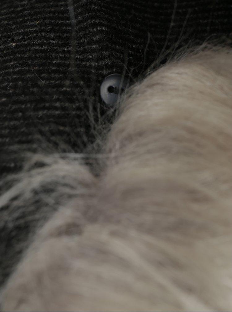 Tmavě šedý kabát s příměsí vlny ONLY Lina