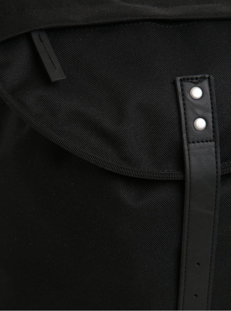 Rucsac urban unisex negru cu detalii din piele Enter City Hiker 19 l