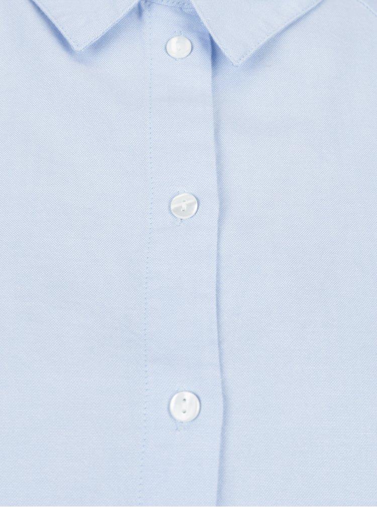 Světle modrá košile s průstřihy na zádech Jacqueline de Yong Naya
