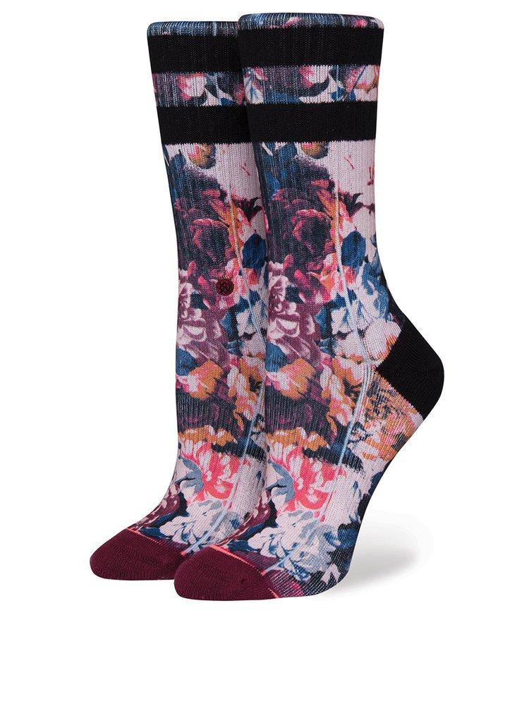 Vínové dámské květované ponožky Stance Hayley´s Dozen