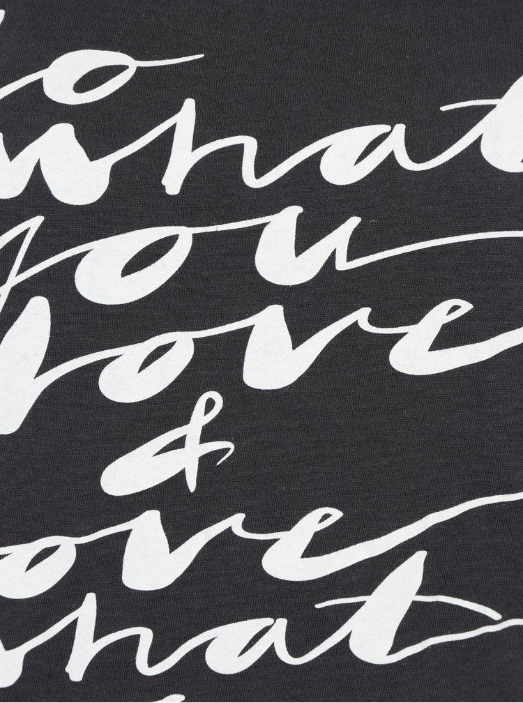 Tmavě šedé tričko s potiskem Jacqueline de Yong Chicago