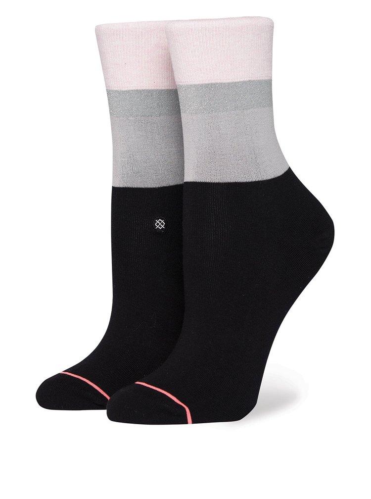 Růžovo-černé dámské ponožky Stance Cara