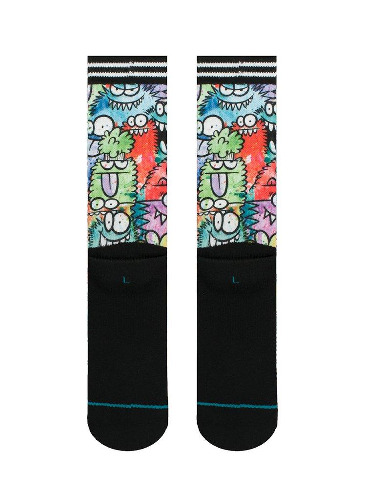Șosete multicolore cu print pentru bărbați -  Stance Monster Party Sub