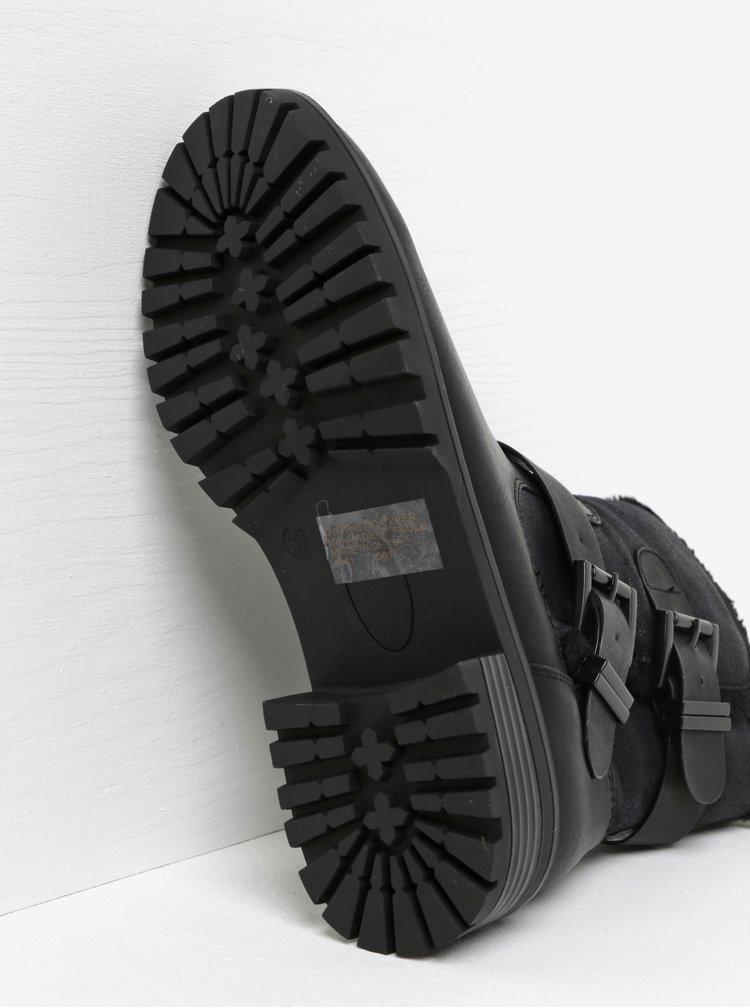 Černé kotníkové boty s přezkami Miss KG Snug
