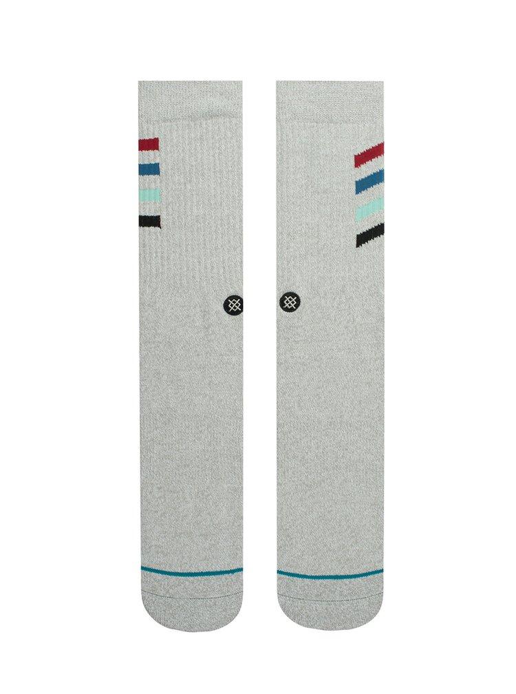 Světle šedé pánské ponožky s pruhy Stance Croton