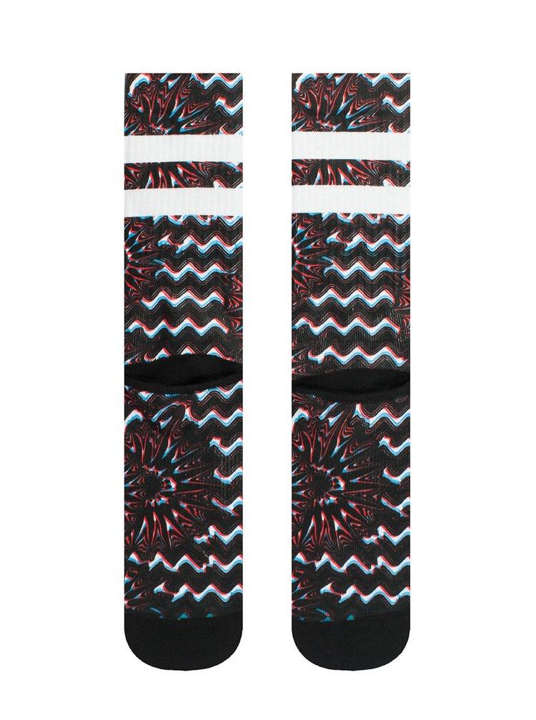 Červeno-černé pánské vzorované ponožky Stance Outtie
