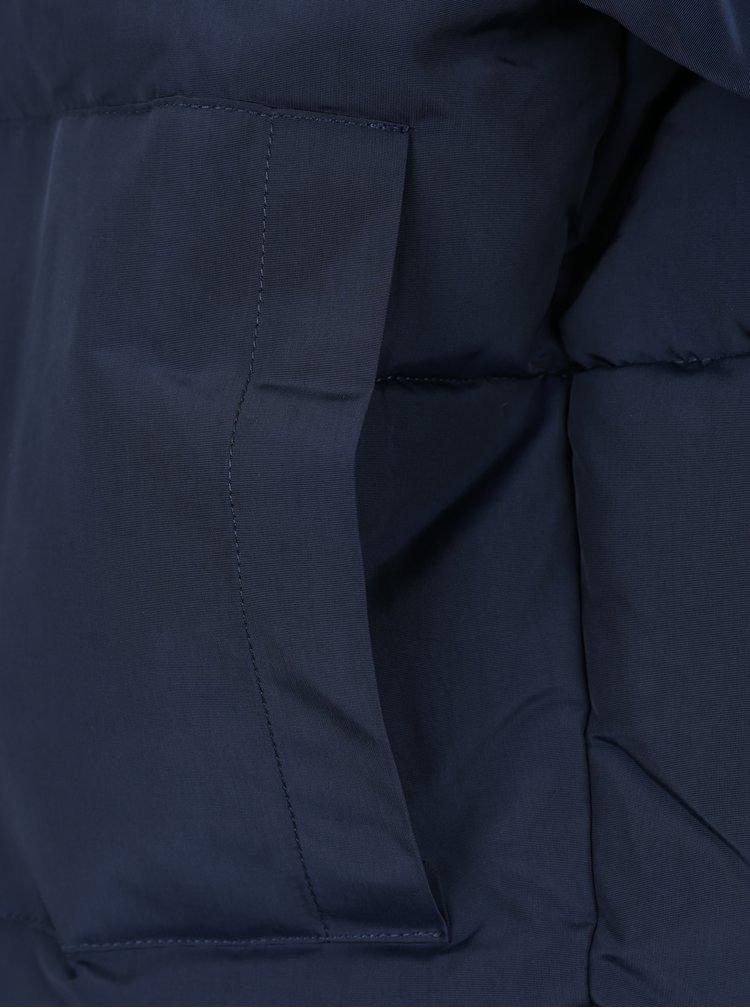 Tmavě modrá prošívaná zimní bunda Noisy May Morris