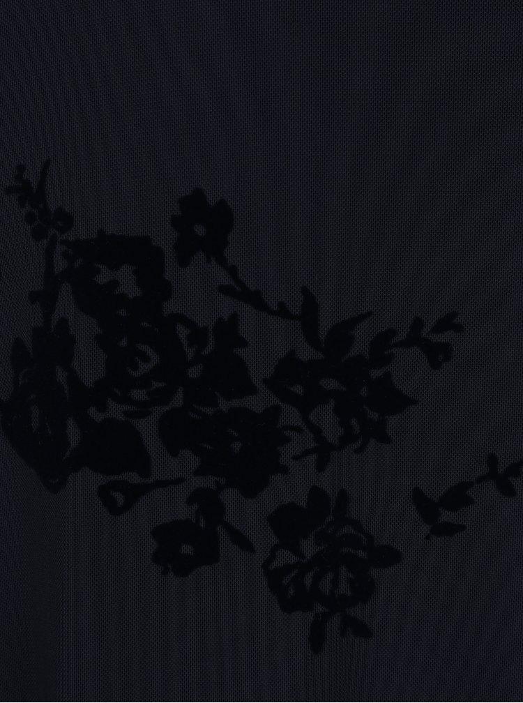 Rochie bleumarin din plasa cu guler inalt ONLY Nadi