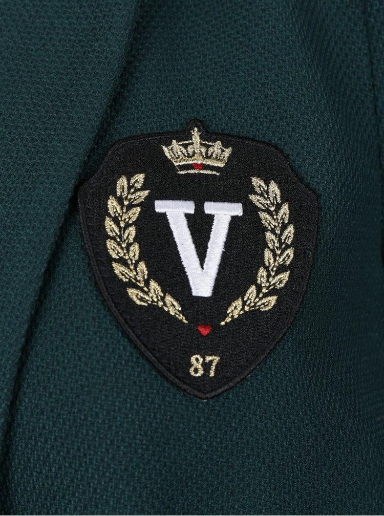 Tmavě zelené sako s nášivkou VERO MODA Maja