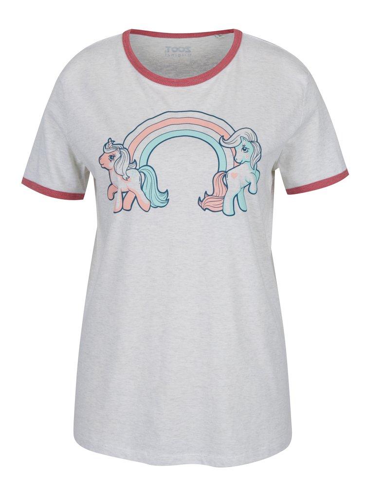 Sivé dámske tričko s potlačou ZOOT Original Ponny