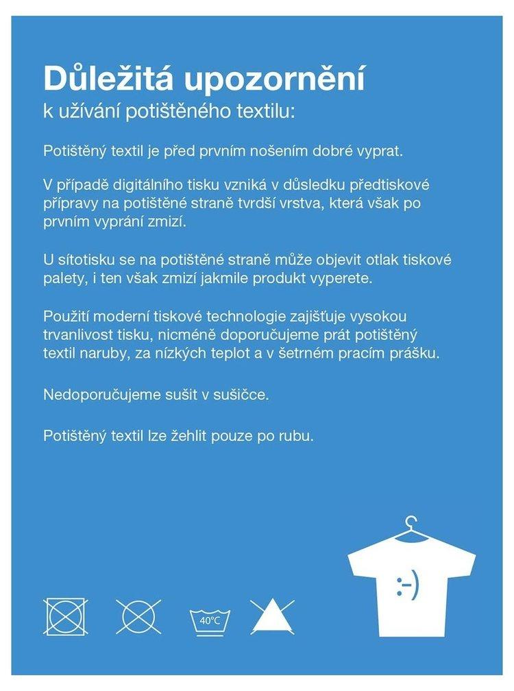 Světle modré žíhané dámské žíhané tričko s potiskem ZOOT Original Kazeta