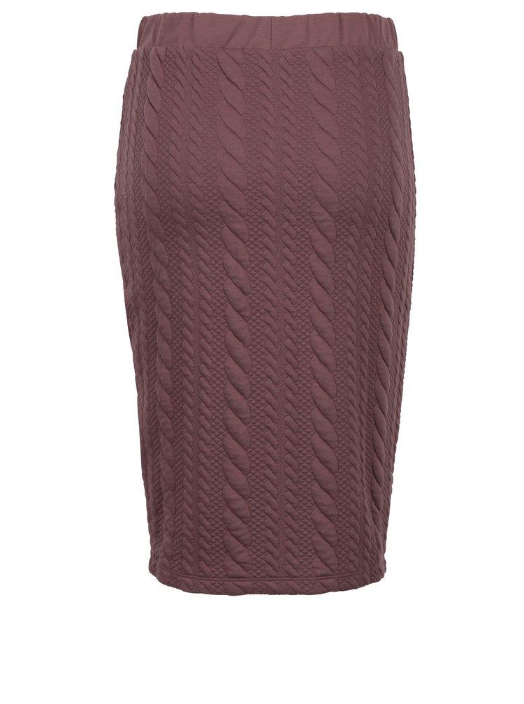 Starorůžová pouzdrová sukně Jacqueline de Yong Zadie