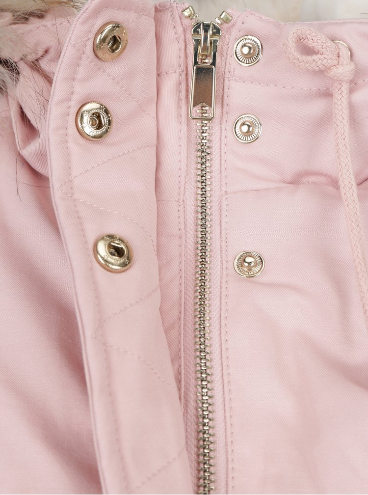 Geaca parka roz Miss Selfridge