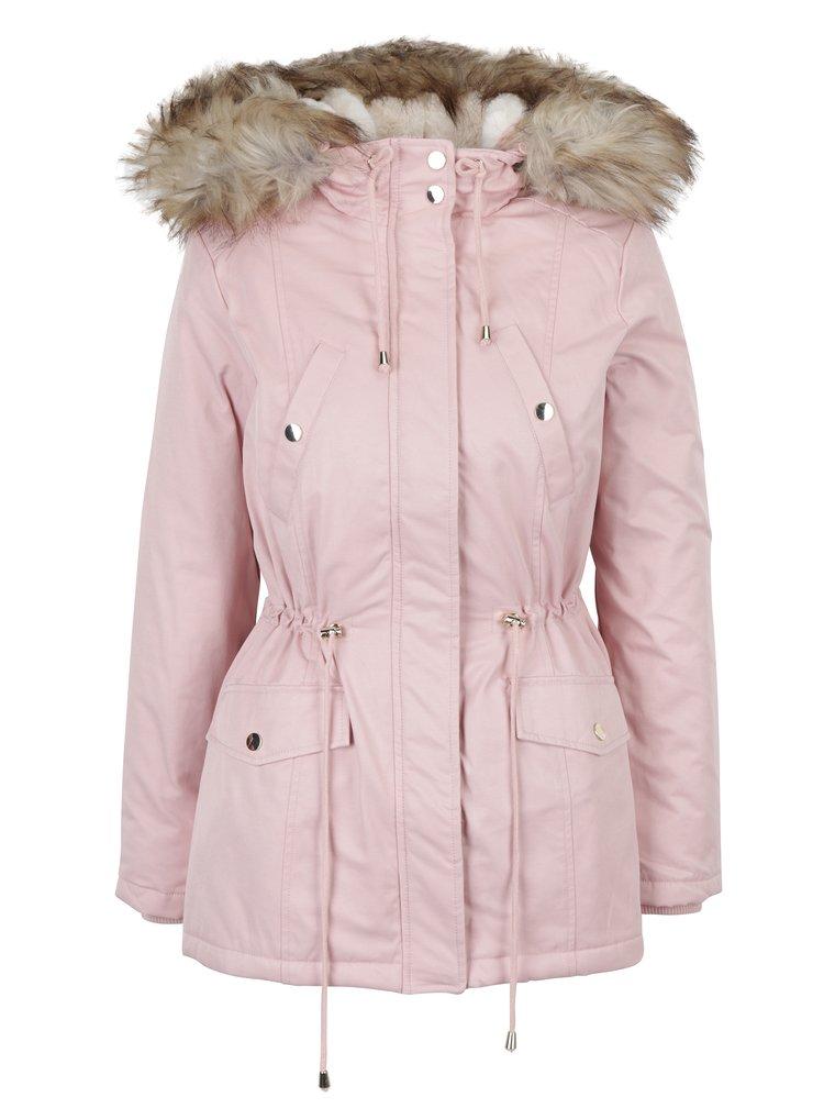 Geacă parka roz Miss Selfridge