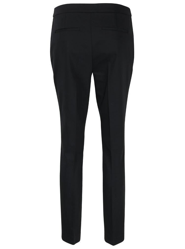 Černé kalhoty s vysokým pasem VERO MODA Luis