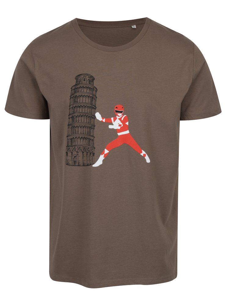 Hnědé pánské tričko ZOOT Original Šikmá věž