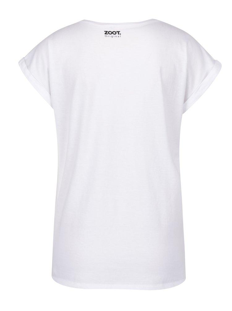 Bílé dámské tričko s potiskem ZOOT Original Koláž