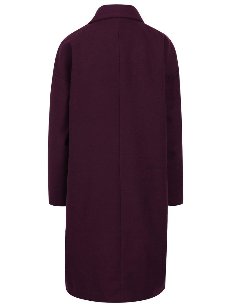 Fialový dlouhý kabát Jacqueline de Yong Kelly