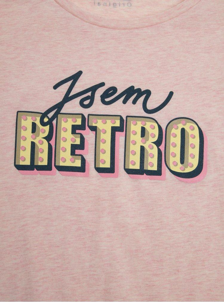 Růžové dámské tričko s potiskem ZOOT Original Retro