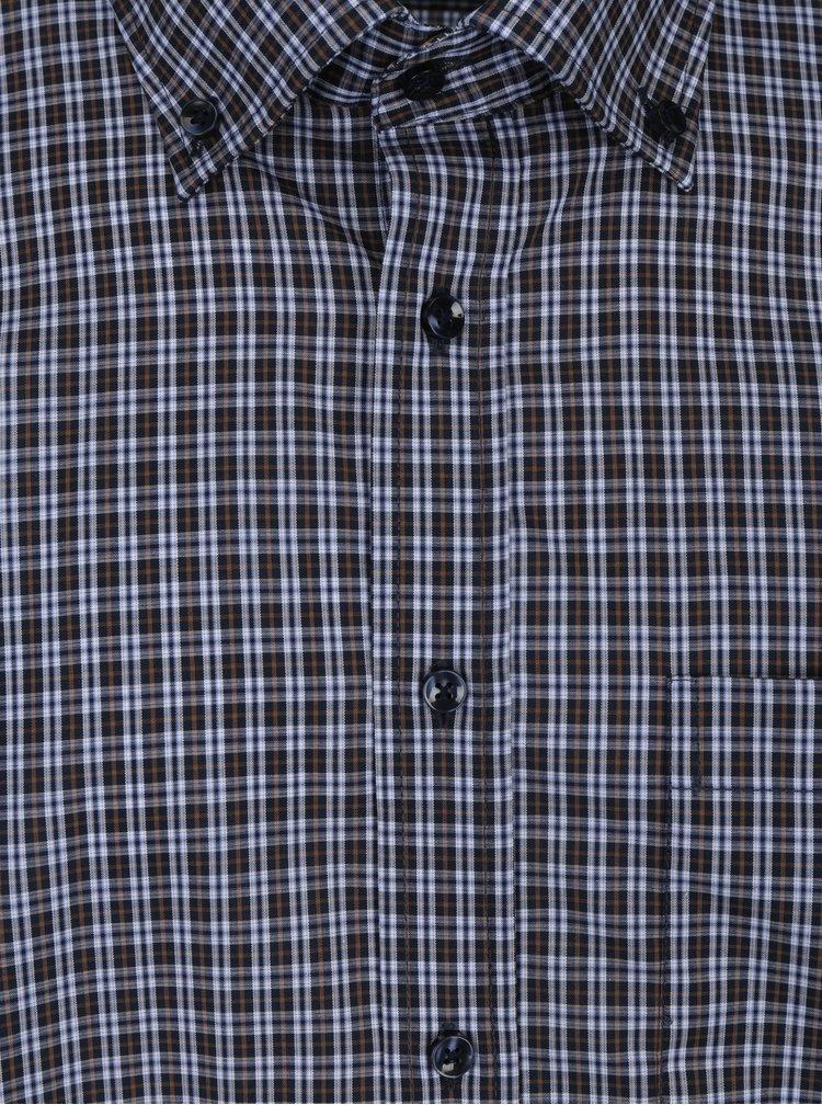 Tmavě modrá kostkovaná modern fit košile Seidensticker
