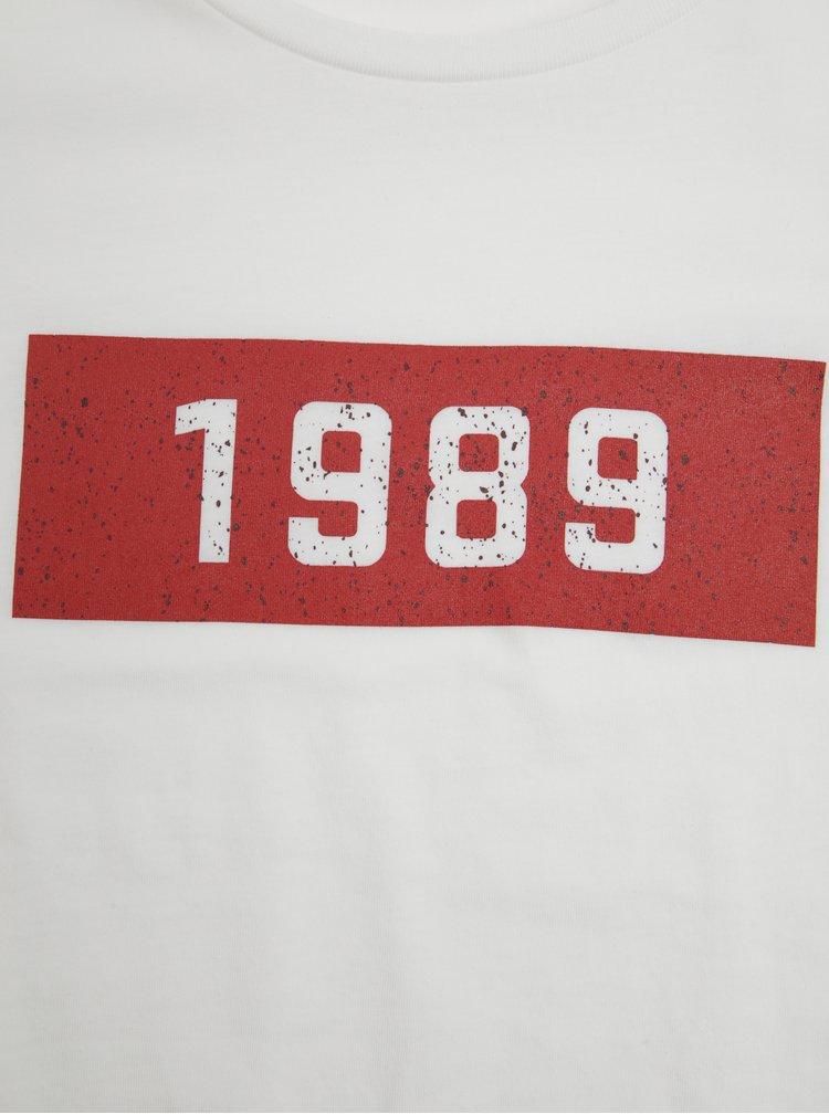 Tricou alb cu print pentru femei  ZOOT Original 1989