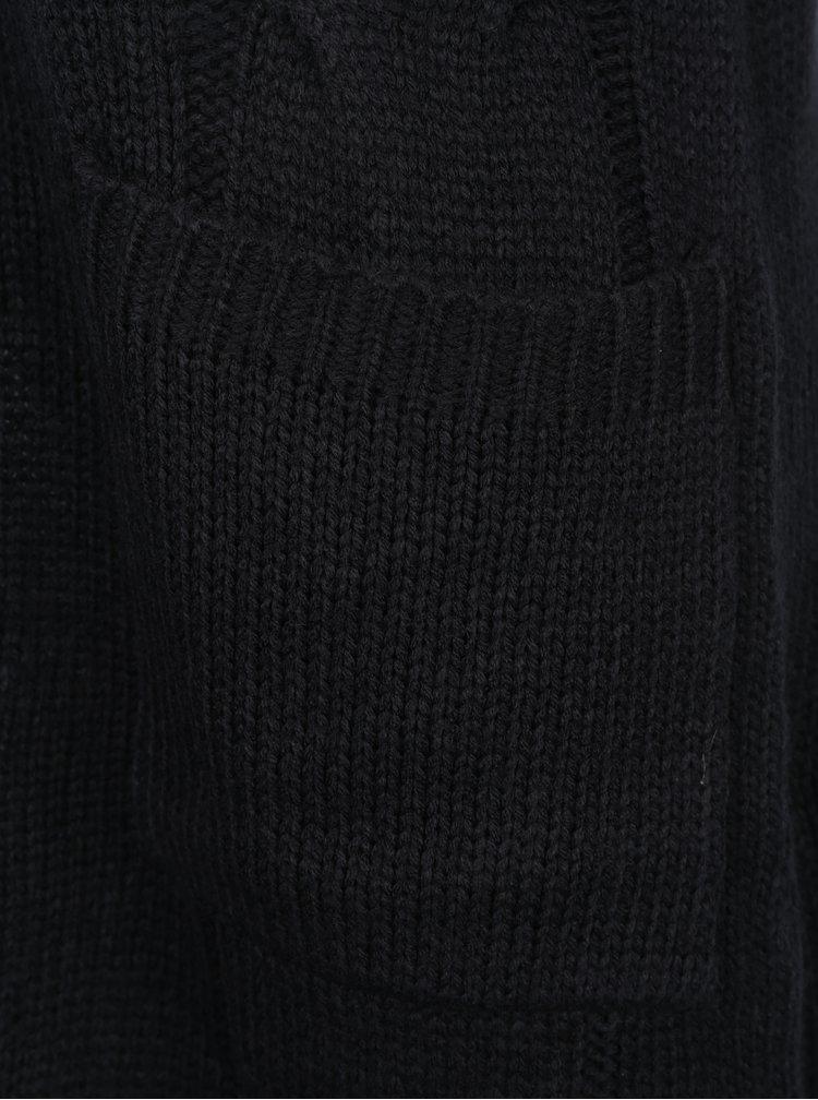 Černý kardigan s kapsami Noisy May Wilba
