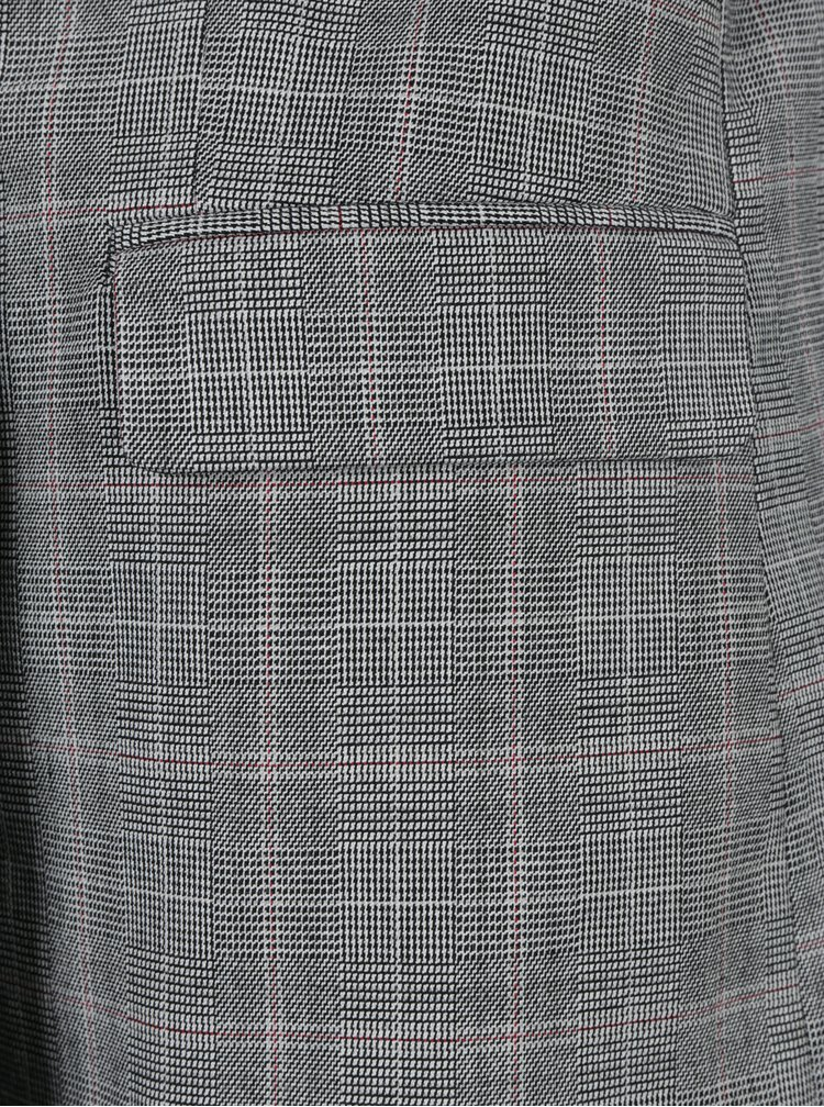 Černo-šedé dlouhé vzorované sako Miss Selfridge