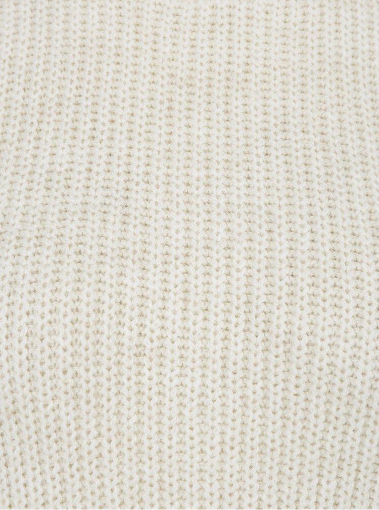 Krémový svetr s nabíranými rukávy Miss Selfridge