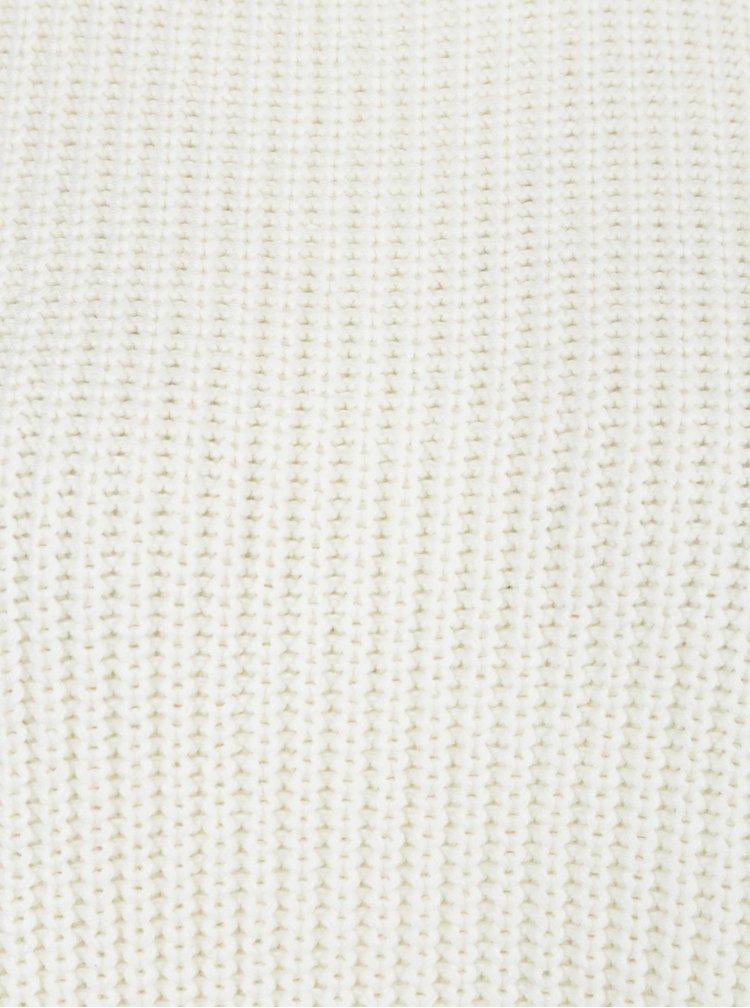 Krémový volný svetr s ozdobným asymetrickým lemem Miss Selfridge