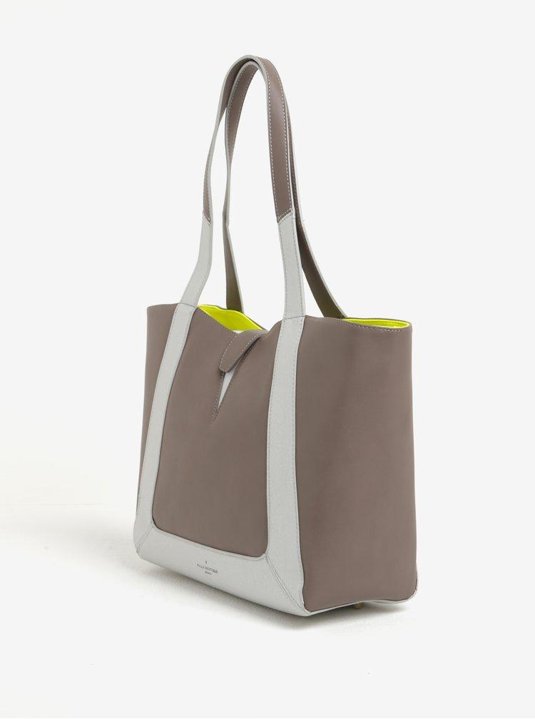 Světle hnědá velká kabelka s neonovým vnitřkem Paul's Boutique Maxine