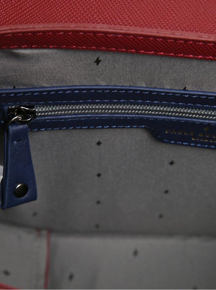 Geantă bordo cu detalii din piele întoarsă Paul's Boutique Grayson