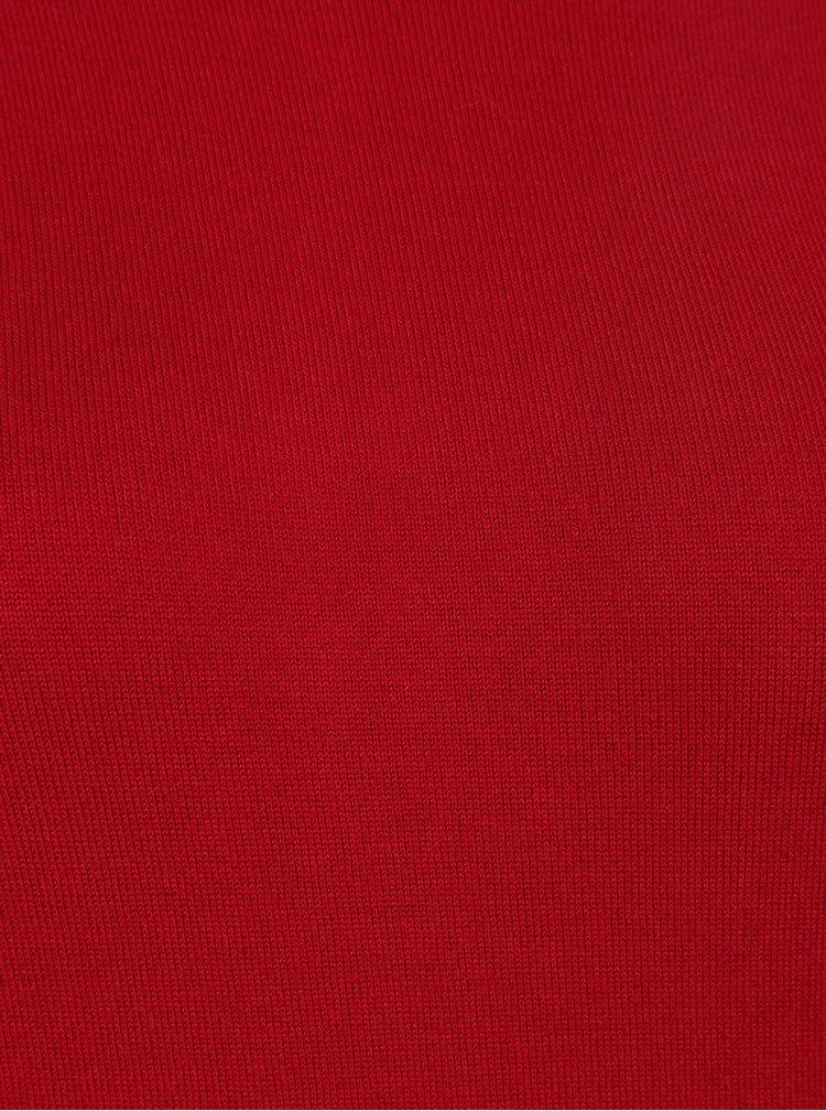 Pulover rochie rosu cu decupaje Miss Selfridge