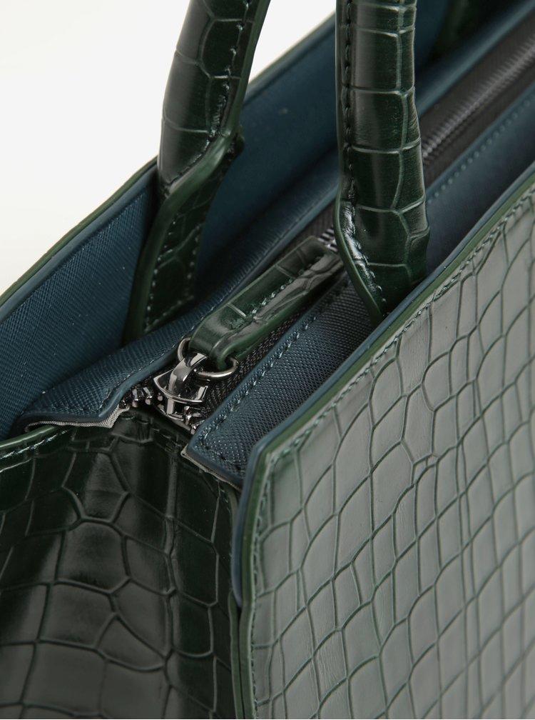 Geanta verde inchis cu model piele de sarpe  Paul's Boutique Mabel