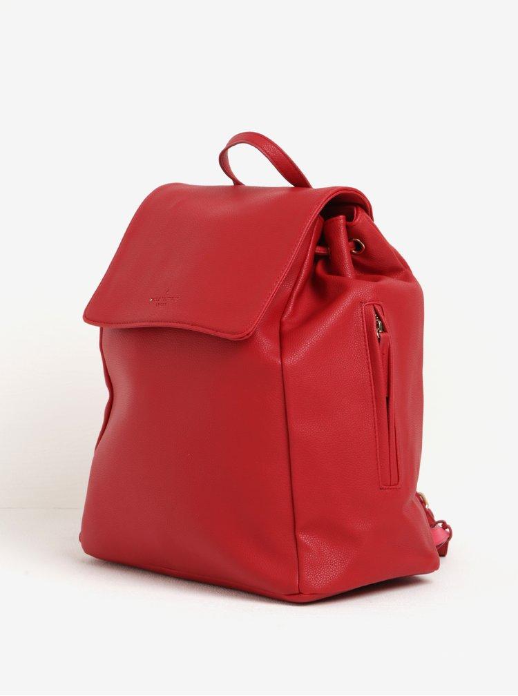 Červený velký batoh s jemným vzorem Paul's Boutique Celine