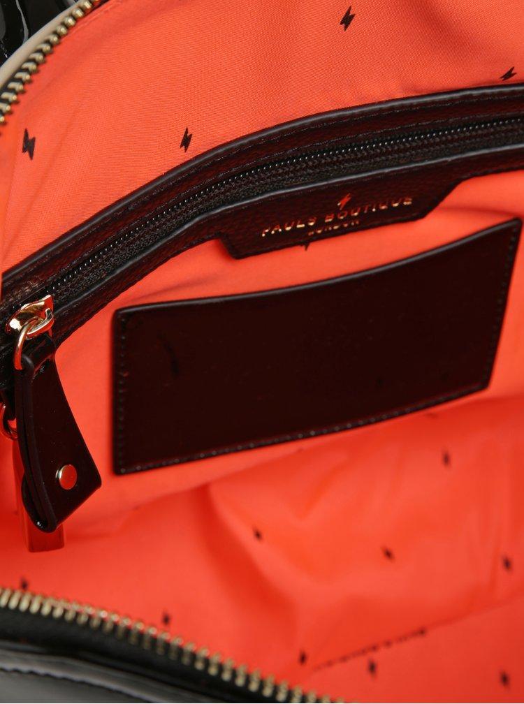 Geantă bej&negru cu aspect lăcuit Paul's Boutique Maisy